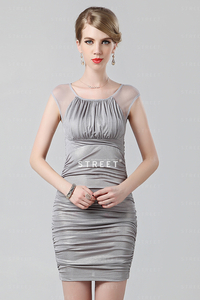 mature party productimg lcfs grey ruched scoop neck sexy mature party plus size long cocktail dress