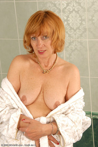mature red head redhead toys hairy mature milf tickles clit