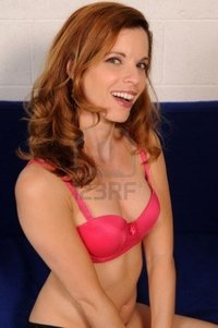 mature red head disorderly beautiful mature redhead pink brassiere photo