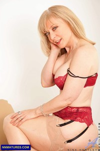 mature red nina hartley old mature blonde looks like red lingerie attachment