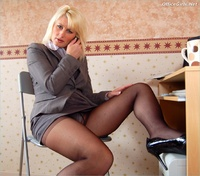 mature sally sally working from home mature office