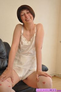 mature stocking pictures stocking aces satin lingerie mature stockings model from