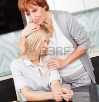 mature young tatyanagl mother soothes sad daughter mature woman calm young photo