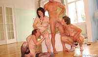 mature young three mature young man orgy