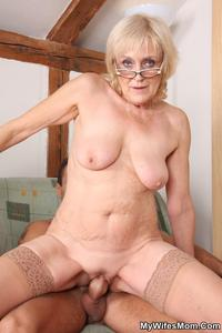 my mature mom galleries mywifesmom dirty mature blonde glasses pic