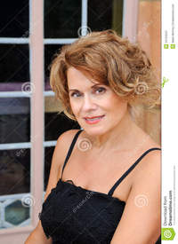 outdoor mature beautiful mature woman outdoor portrait royalty free stock photography