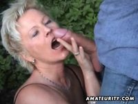 outdoor mature apmp mature amateur wife sucks fucks outdoor facial cumshot