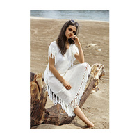 pure mature htb taf lxxxxxb xpxxq xxfxxxu font pure solid white color loose short sleeves resort dress beach maxi popular mature