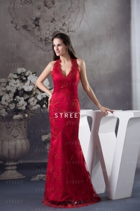 red mature productimg luxury mature red halter lace satin floor length sheath ruched indie formal dress