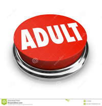 red mature adult word red button mature restricted round symbolize such pornography material meant stock photography
