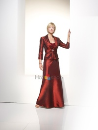 red mature dress mature bright rust red floor length design charming appeal eye catching mother brides groom wedding dresses