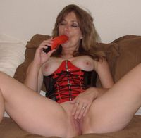 red mature galleries mature wife red leather masturbates shaved pussy toy