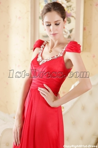 red mature source red beautiful mature bridal dress cap sleeves one shoulder gowns sash