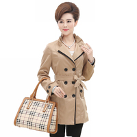 red mature htb xxfxxxf british style woman elegance classical beige red black trench coats mature ladies double breasted duster coat store product