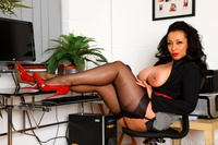 red mature large djw black computer justdanica mature red lips solo stockings