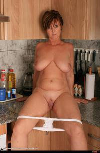 shaved mature wmimg apron kitchen mature over shaved solo
