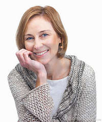 sweet mature sweet mature female over white background stock photo