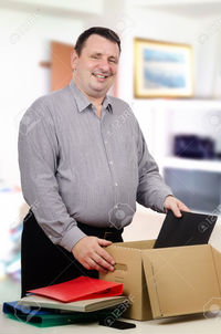 thick mature verbaska thick mature man got high paid occupation happy standing office stock photo