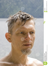 wet mature wet mature man portrait royalty free stock