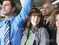 wet mature photos female commuter standing mans wet armpit train picture photo
