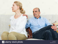 wife mature comp faaygd mature wife husband having quarrel living room stock photo adult guy argue mother law